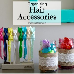 Organizing hair accessories