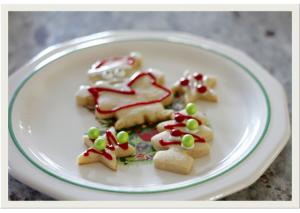 Happy Holidays cookie 1
