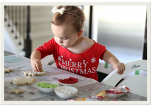Happy Holidays cookie decorating