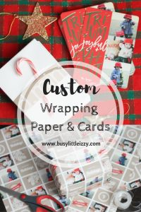 Custom wrapping paper and cards