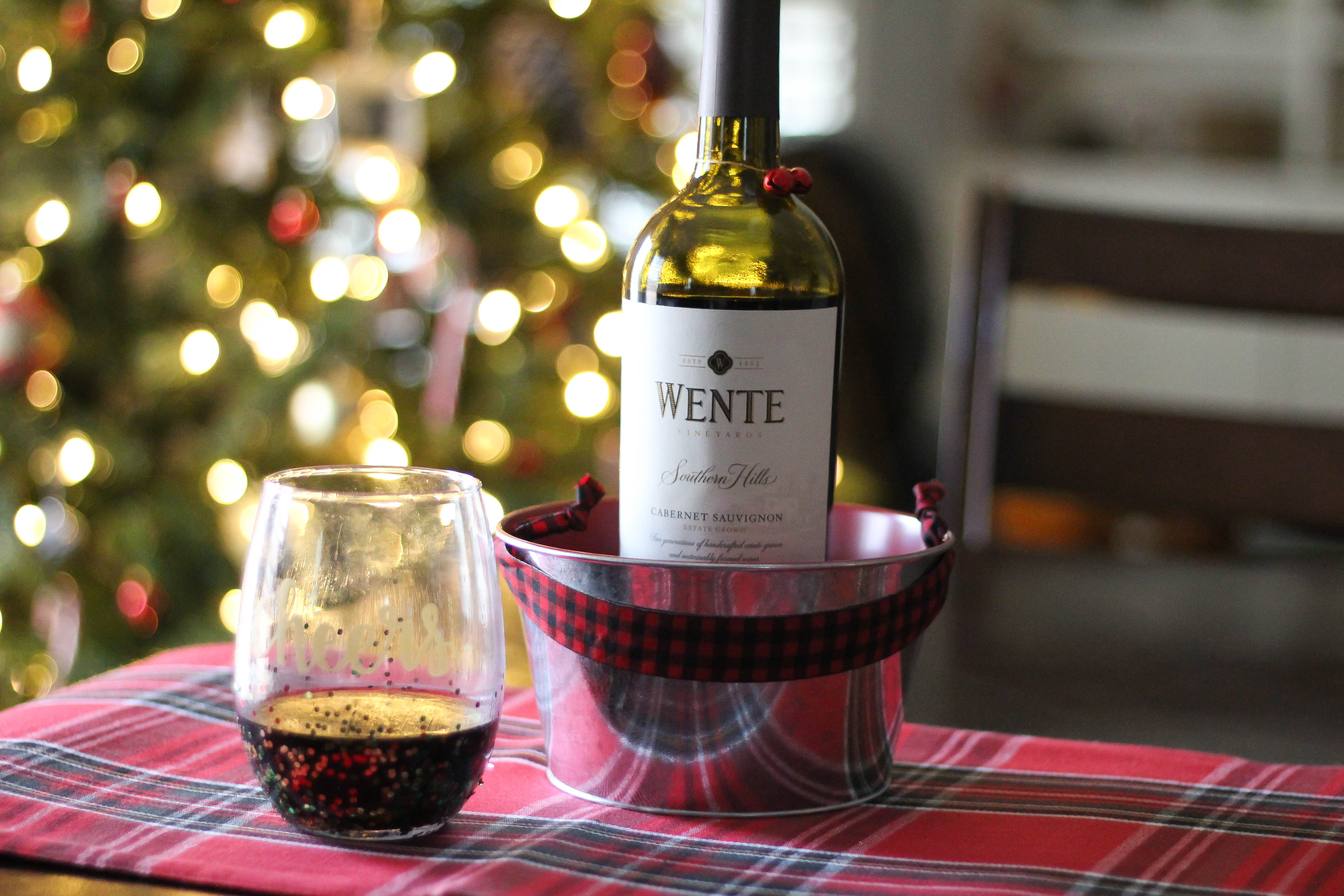 DIY Holiday Wine Glass with Wente Vineyards