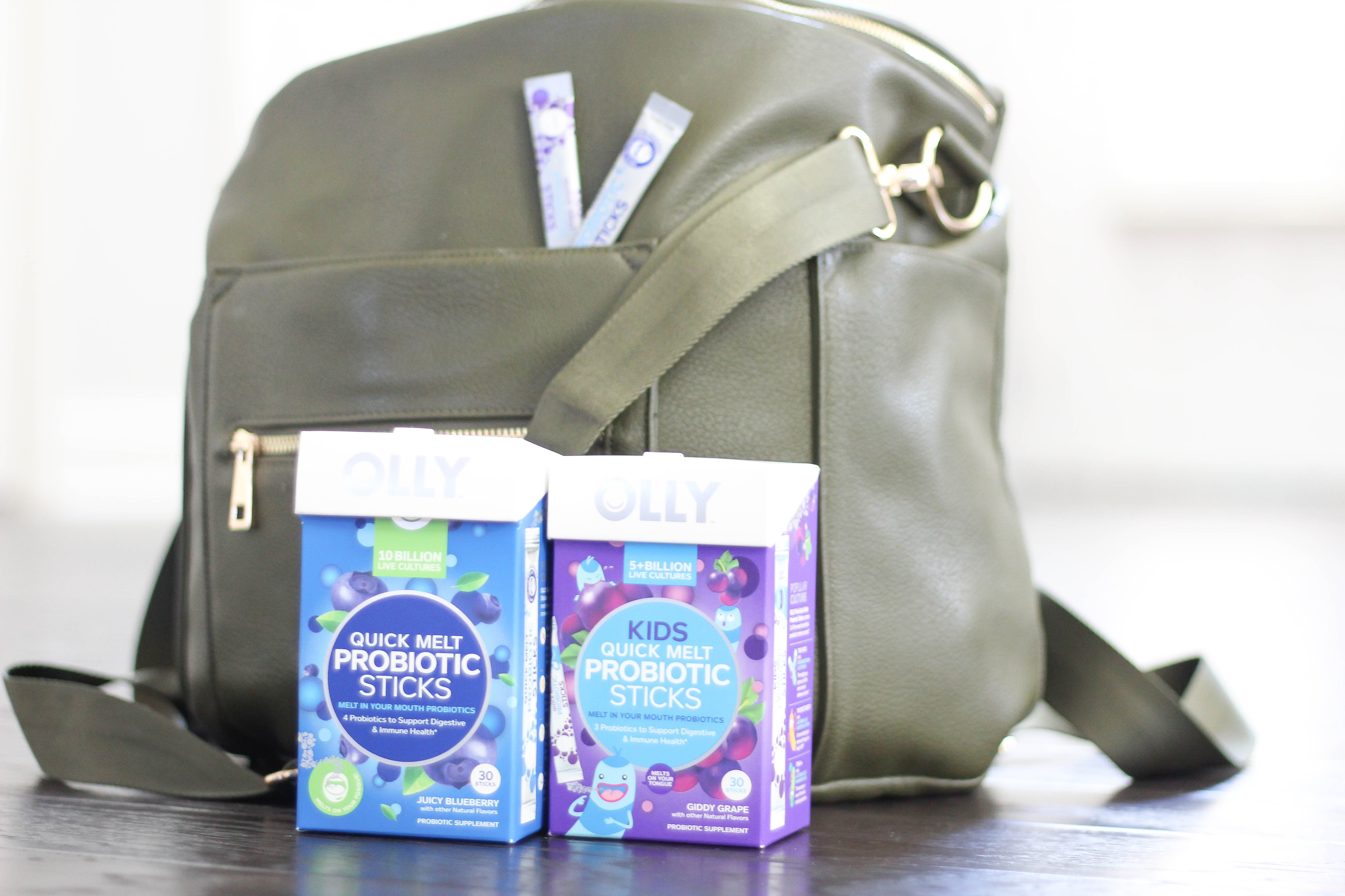 4 Reasons I keep OLLY probiotic sticks in my diaper bag