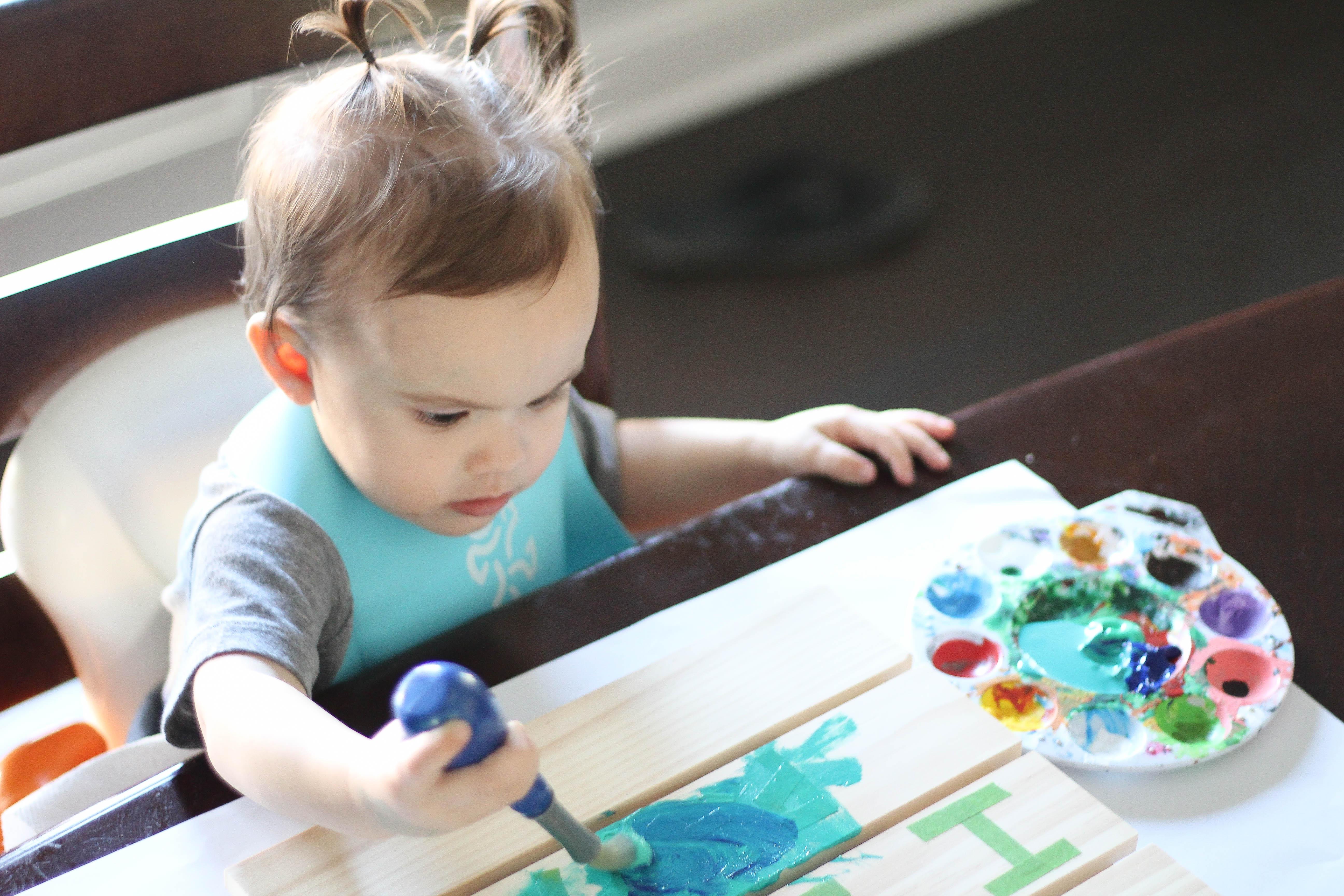 DIY Palette Art – For Babies, Toddlers & Kids