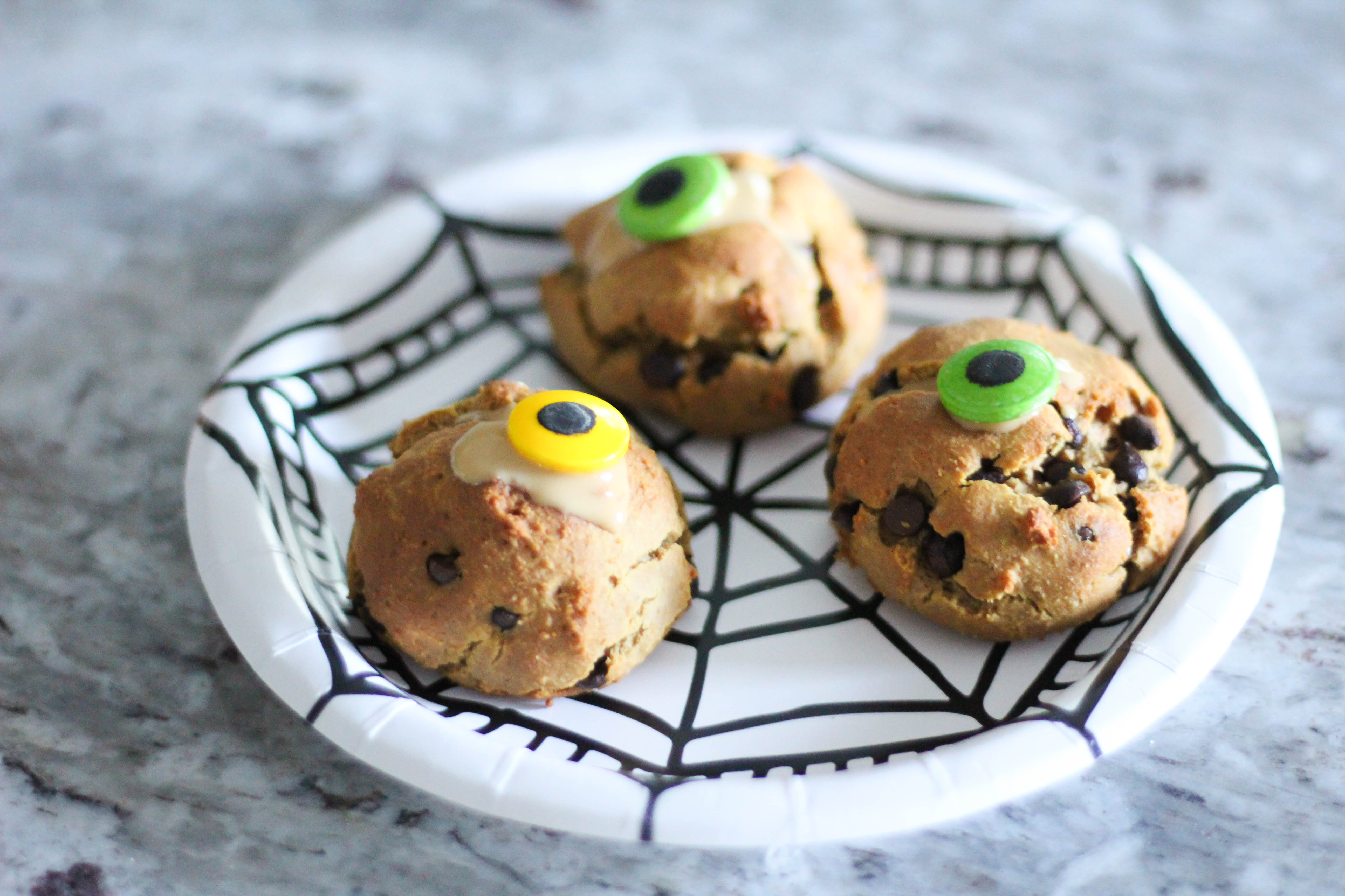 Spooky Chocolate Chip Peanut Butter Scones -Gluten Free and Vegan