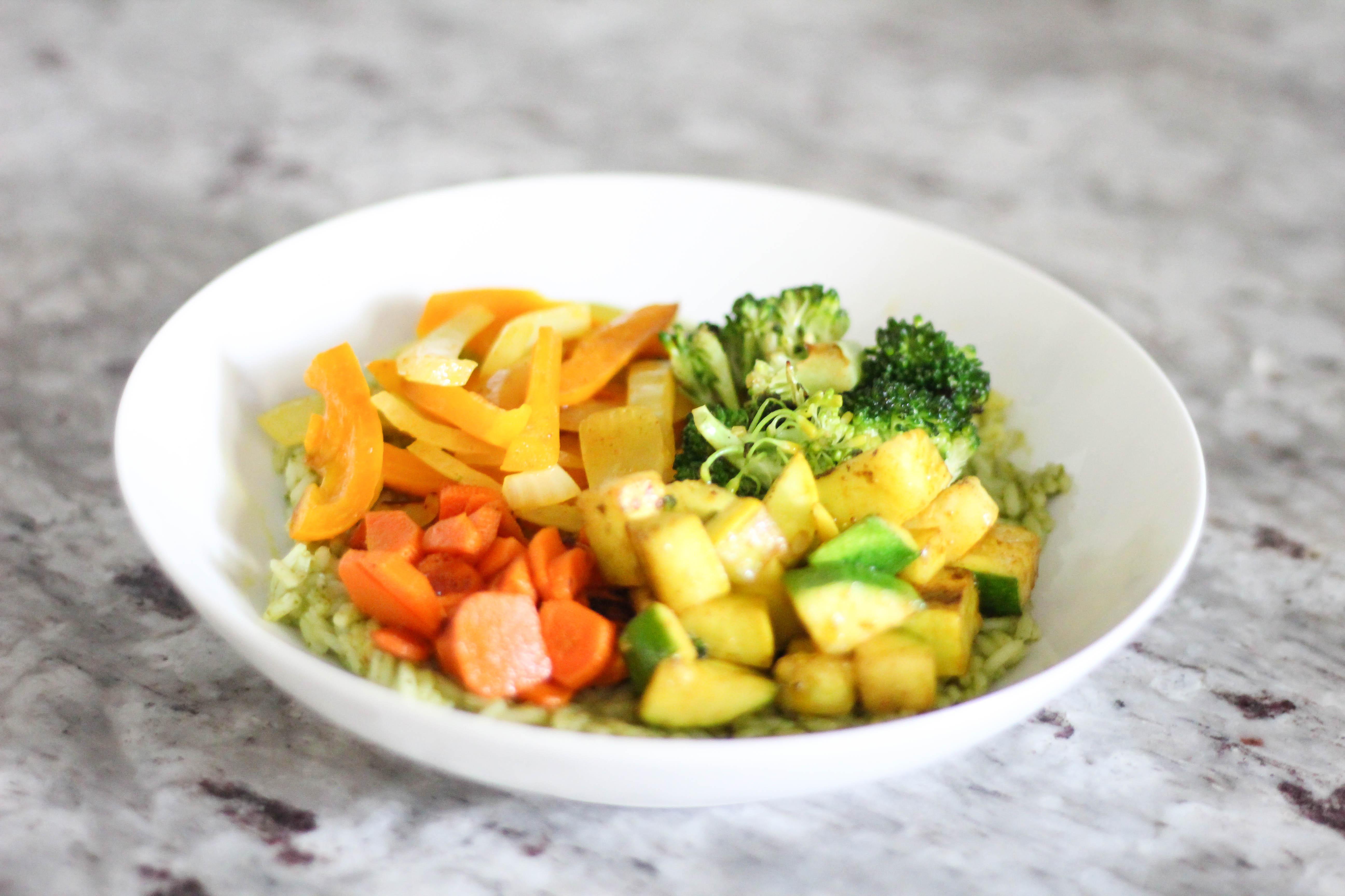 Spicy Green Rice -Gluten Free & Vegan