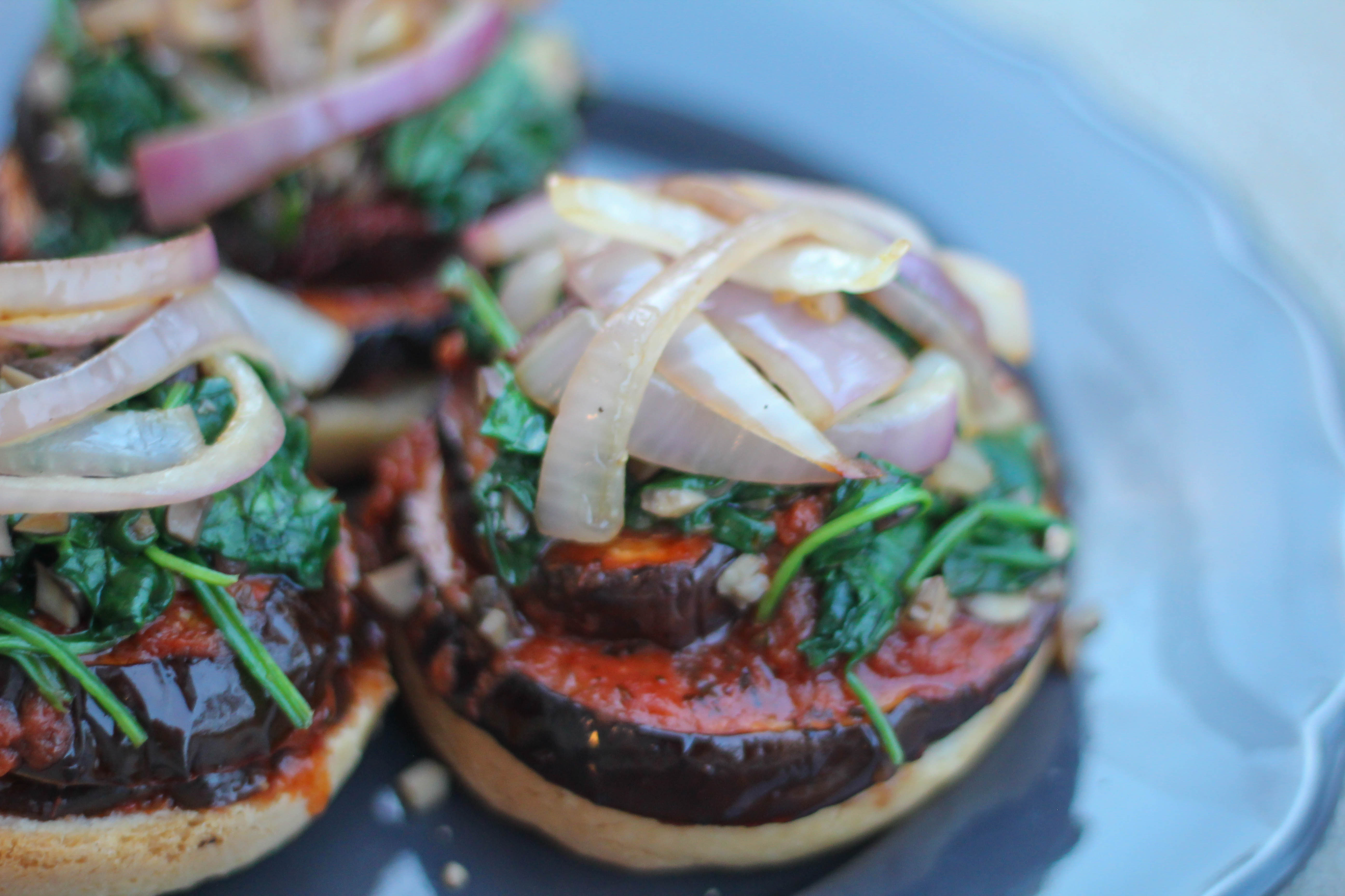 Eggplant Marinara Burger – Gluten Free & Vegan