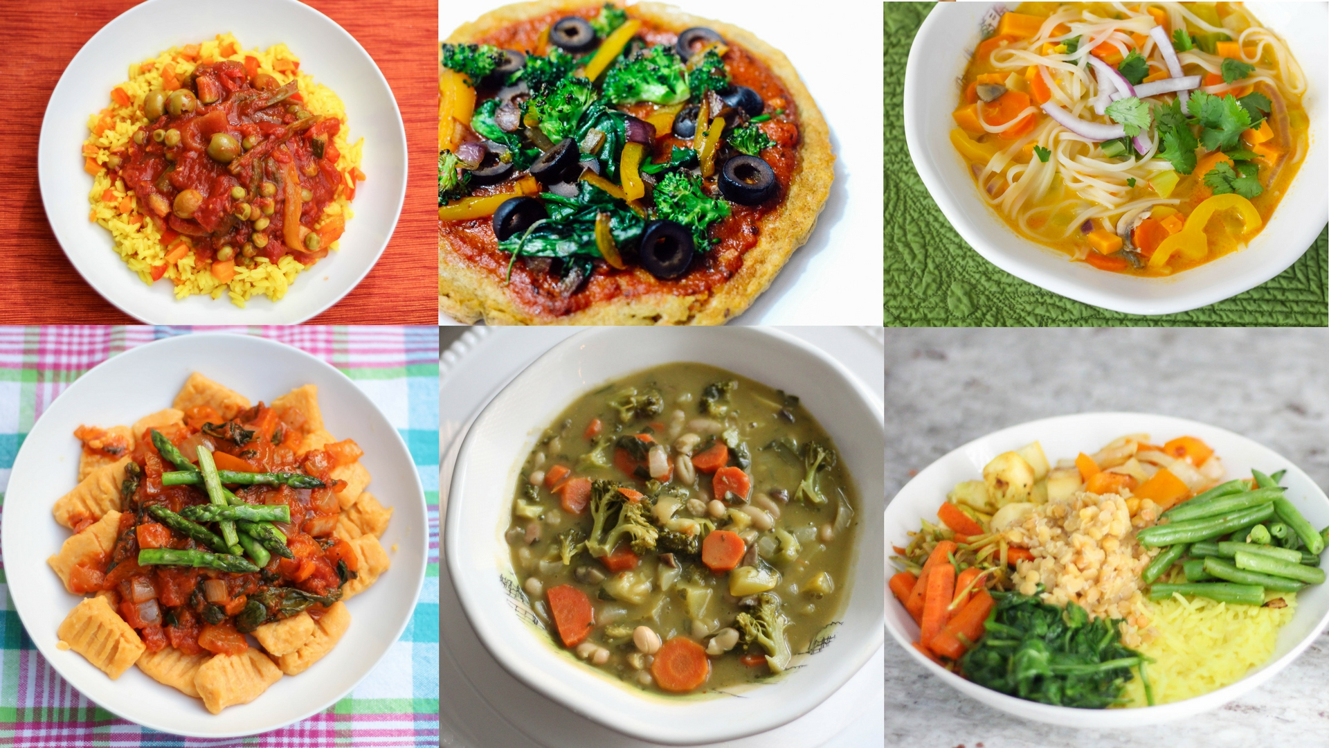 Monday-Friday Gluten Free, Diary Free & Meatless Meals