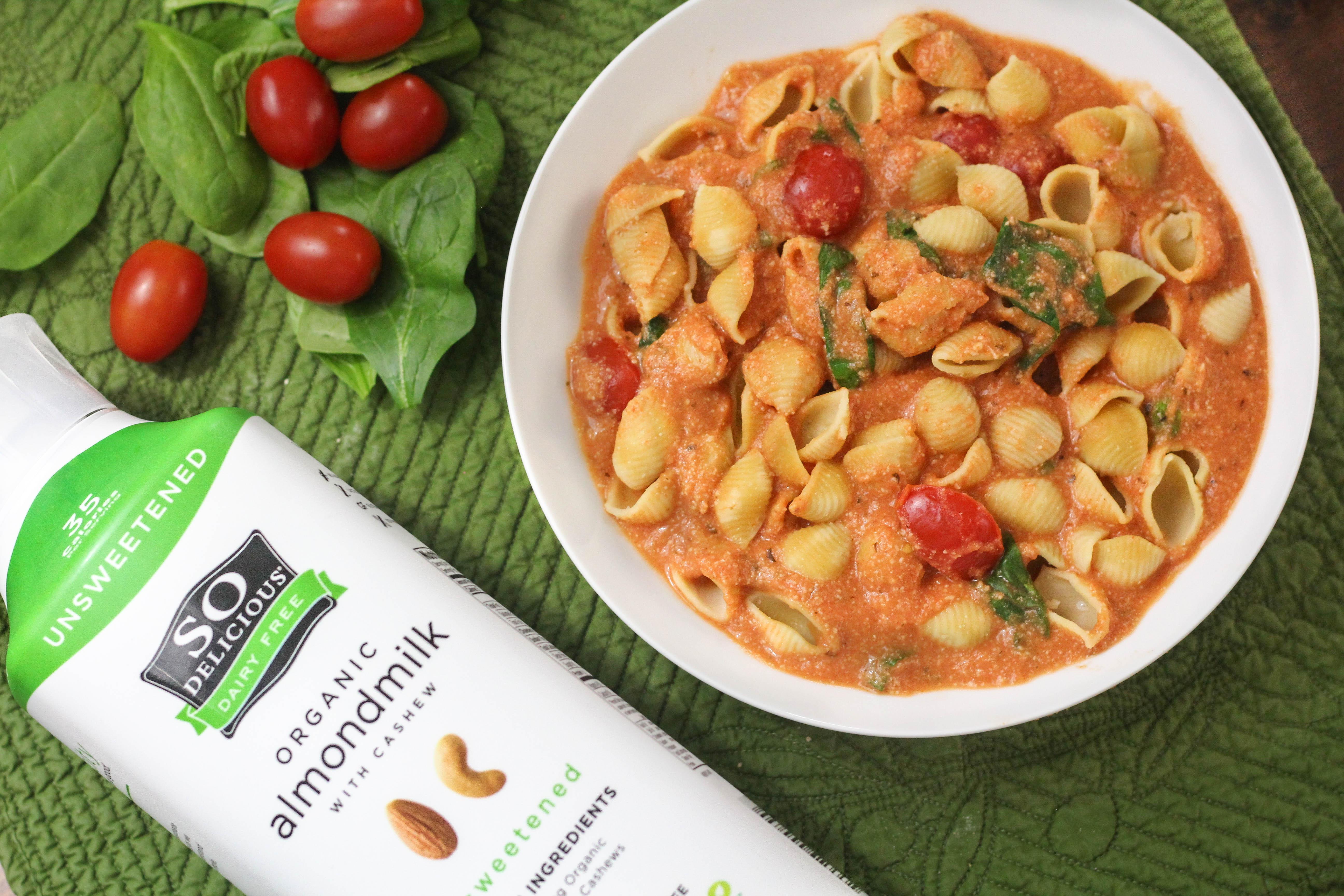Creamy Rosé Tomato & Garlic Pasta -Vegan & Gluten Free