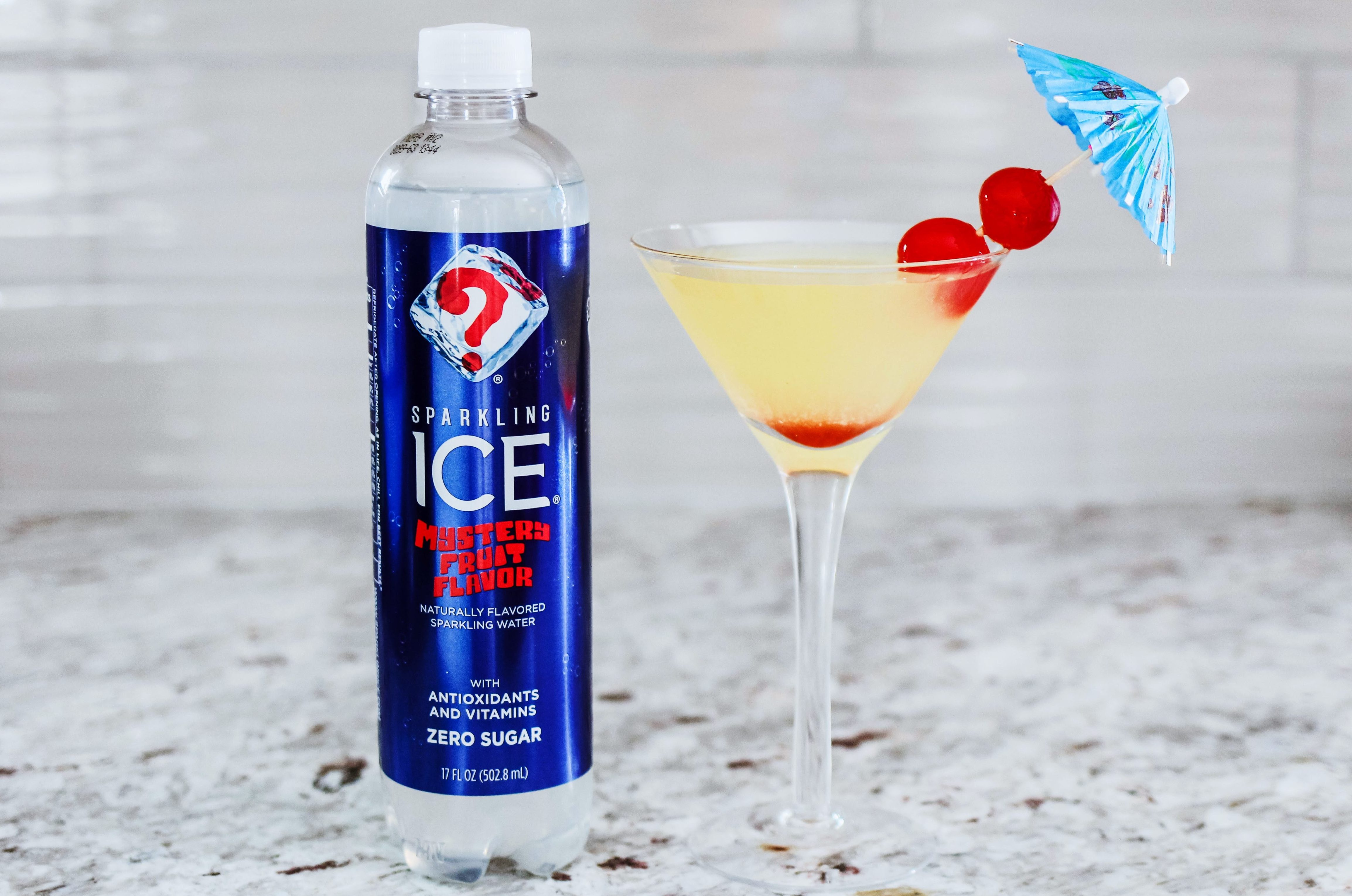Sparkling Fruity Mystery Cocktail