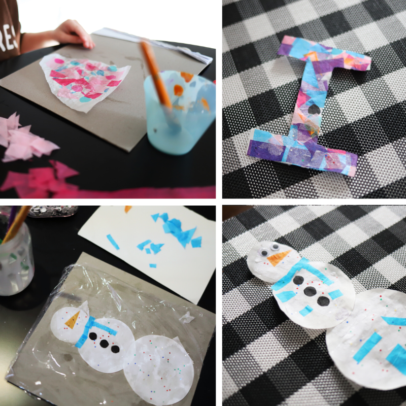 Tissue Paper, Stained Glass Activities
