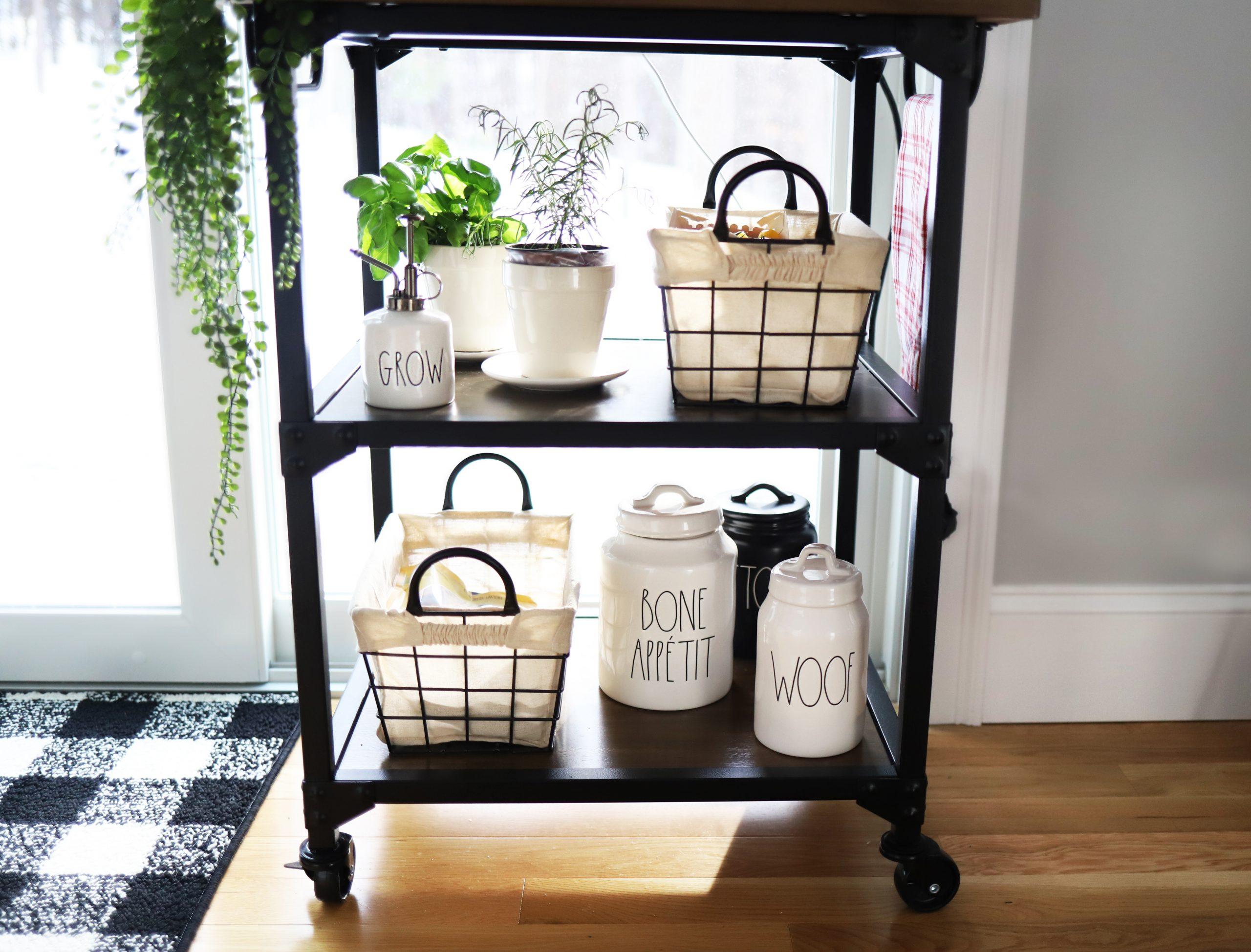 Organizing a Kitchen Cart