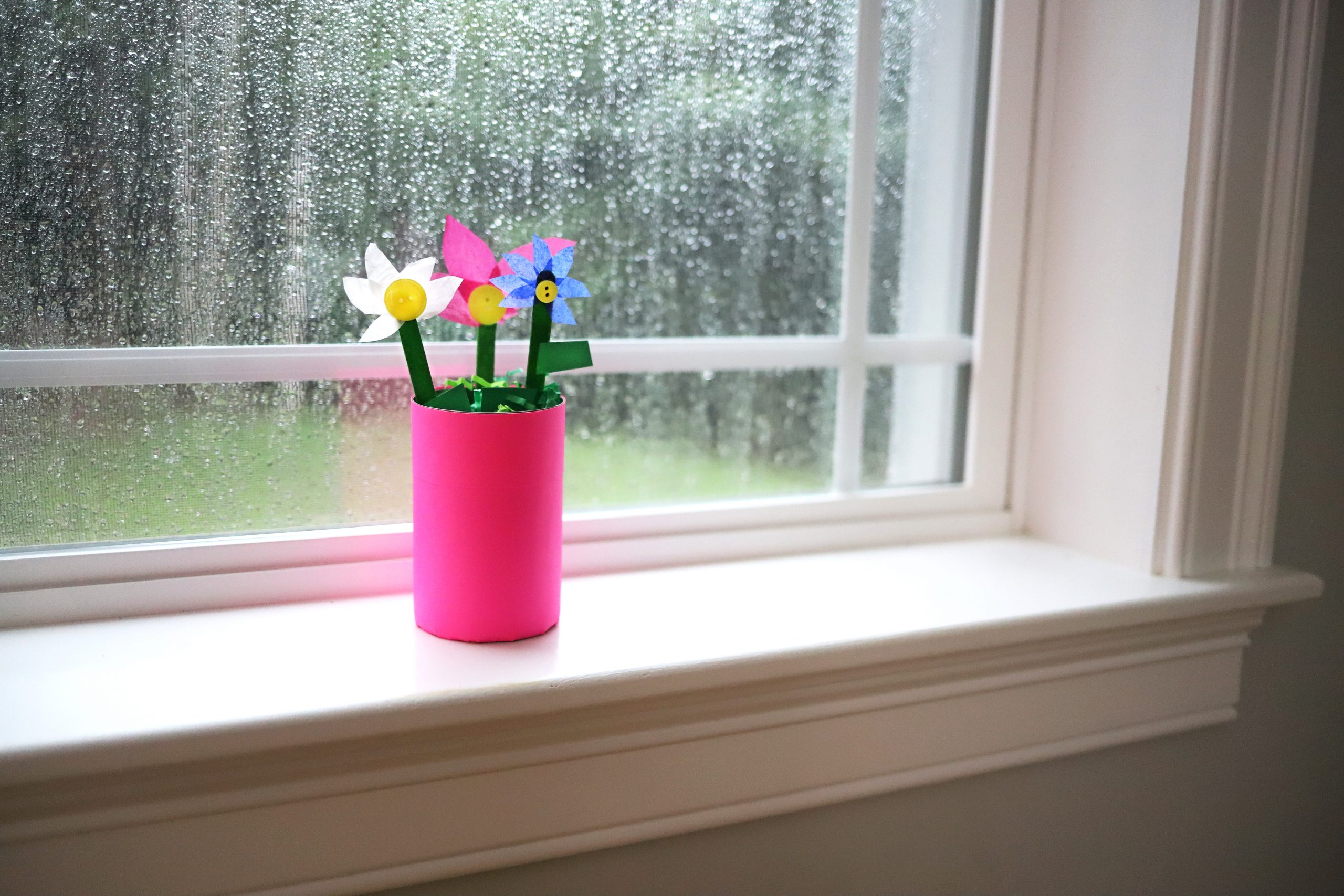 Rainy Day, Flower Pot Craft